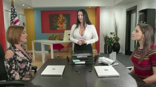 Abella Danger,Angela White, and Krissy Lynn- Phone Service Skills