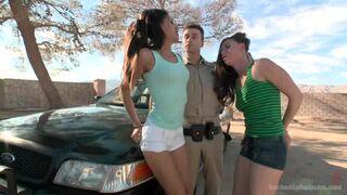 Good friends kiss passionately - Lyla Storm and Casey Calvert