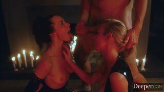 Kayden Kross And Aidra Fox. More of a sensual cleanup than a kiss, but still hot AF