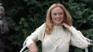 Heather Graham getting naked in a graveyard