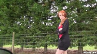 Ella Hughes – British Redhead Sucks Cock