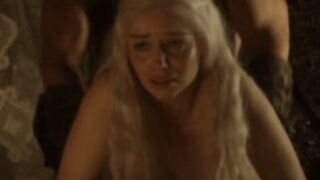 No other scene gets my dick as hard this quickly than Emilia Clarke getting her tight asshole rammed in Game of Thrones