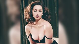 The things I would do to Emilia Clarke being bent over and submissive
