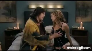 Grabbing Jenna Fischer's boobs
