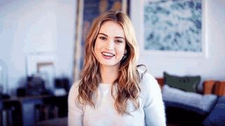 Lily James would be such a great fuck buddy. Cute, pretty, great smile and tight little body.