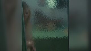 Steamy Shower Sex with Kirsten Dunst while squeezing and sucking on her low hanging tits would be fucking hot