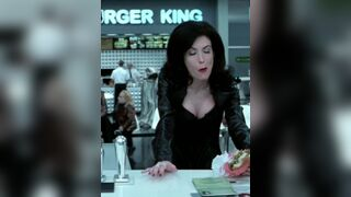 The Moment Lara Flynn Boyle opened her jacket several zippers came down too and the men started fondling her body before she was stuffed airtight with cocks and gangbanged