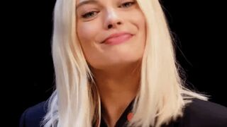 Turning up the power on Margot Robbie's vibrating panties while she's giving an interview...