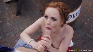 Blown by braided redhead Ella Hughes