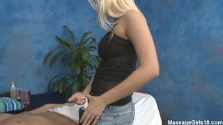 Vanessa Cage fucks her horny massage client