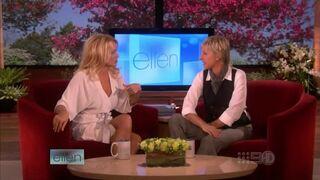 Pamela Anderson on Ellen's talk show in 2008.