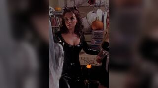 Lacey Chabert latex catsuit plot in Mean Girls