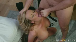 Stormy Daniels takes a facial