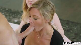 Amazing Blowjob With Two Beautiful Babes Karla Kush, Addison