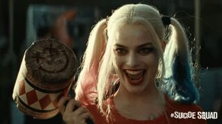 Margot Robbie thinking about all the cocks she's drained dressed as Harley Quinn