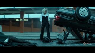 Charlize Theron & Sofia Boutella LESBIAN plot from Atomic Blonde red band trailer