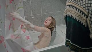 Yana Enzhaeva in the Russian version of Shameless