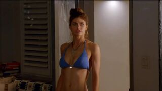 Alexandra Daddario in her new show Why Women Kill - extended bikini scene & tease of a threesome