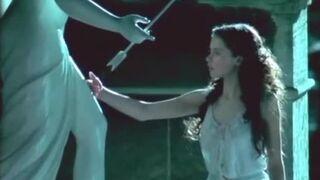 "Felicity Jones' only topless scene, from rare TV rip of ""Servants"""