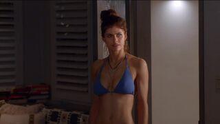 Alexandra Daddario - brand new - bikini & threesome scene in Why Women Kill S01E02 -released an hour ago