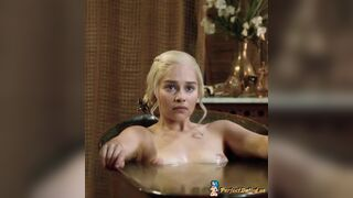 Emilia Clarke getting out of the tub in Game of Thrones :)