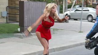 Ashley Benson sweet up-skirt plot in 'Pixels'