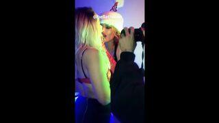 Tana Mongeau + Bella Thorne tongue