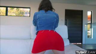 Casey Calvert revealing her butt plug
