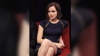 If I was Emma Watson and a guy asked if he could stroke his big cock to my face