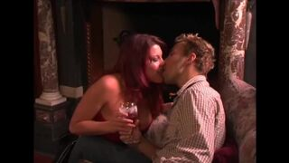 """Definitely the sexiest kiss ever in my opinion: Rebecca Love and Voodoo in """"Ghost in a Teeny Bikini"""""""