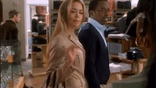 Denise Richards sly look to a black woman.