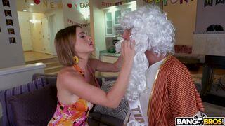 Hot Milf Krissy Lynn sucks two big dicks