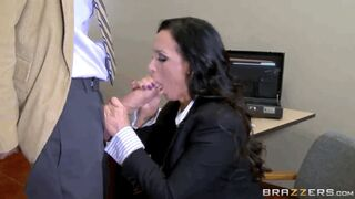 Nikki Benz makes sure all 10 inches of Danny's cock are being blown