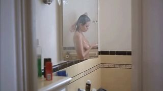 Angelina Jolie catches you creepin' on her in the shower