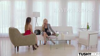 Kayden Kross and Eva Lovia - Kayden focused