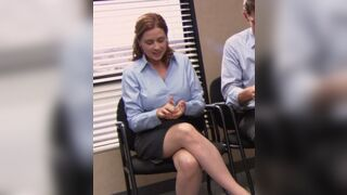 Jenna Fischer is ready for some business.