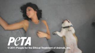 Olivia Munn - see through - PETA photoshoot